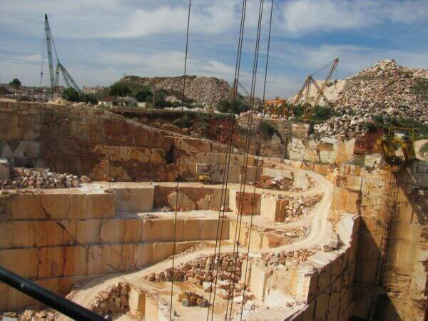 Marble quarries in Estremoz