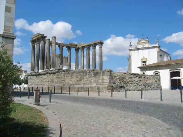 Diana Temple in Evora City